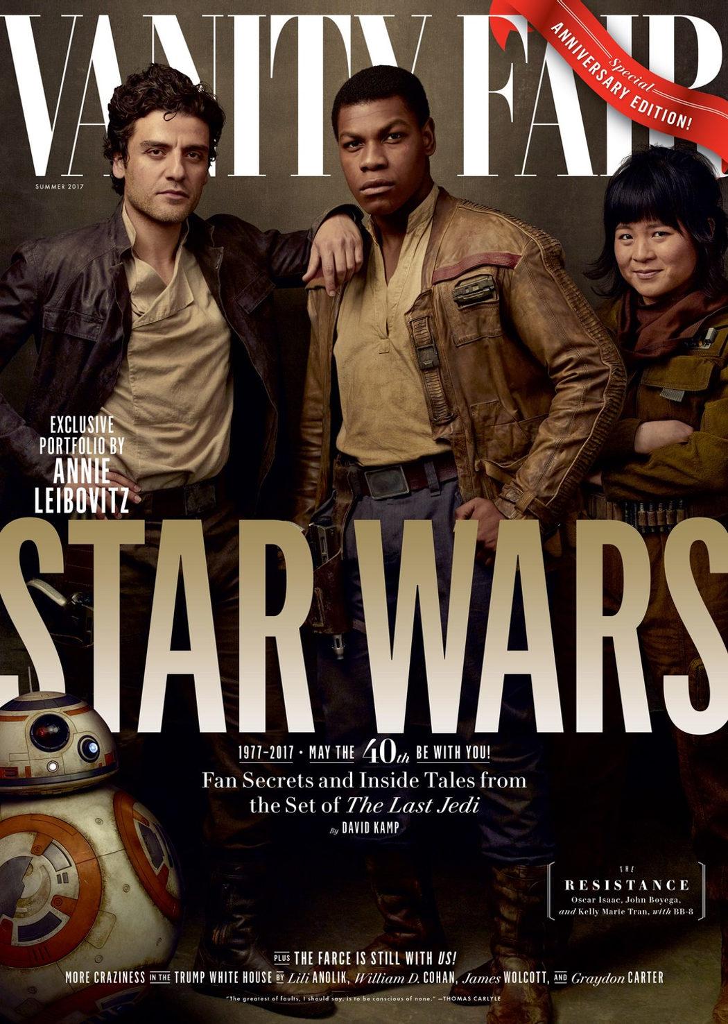Poe, Finn, Rose Tico y BB-8