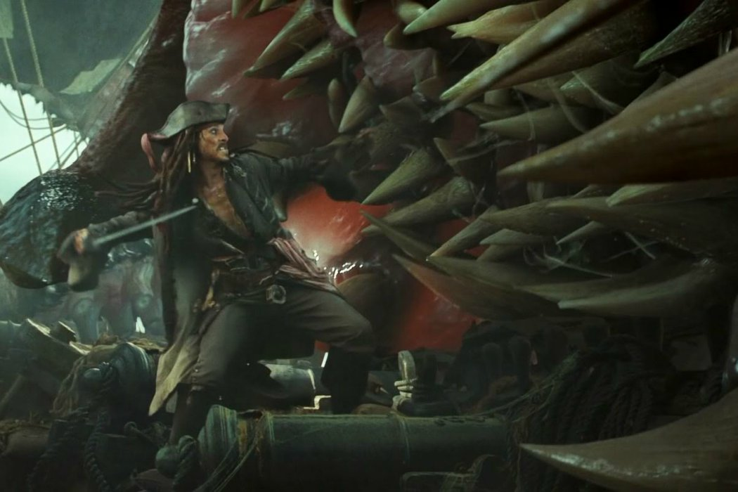 Jack Sparrow vs. el Kraken