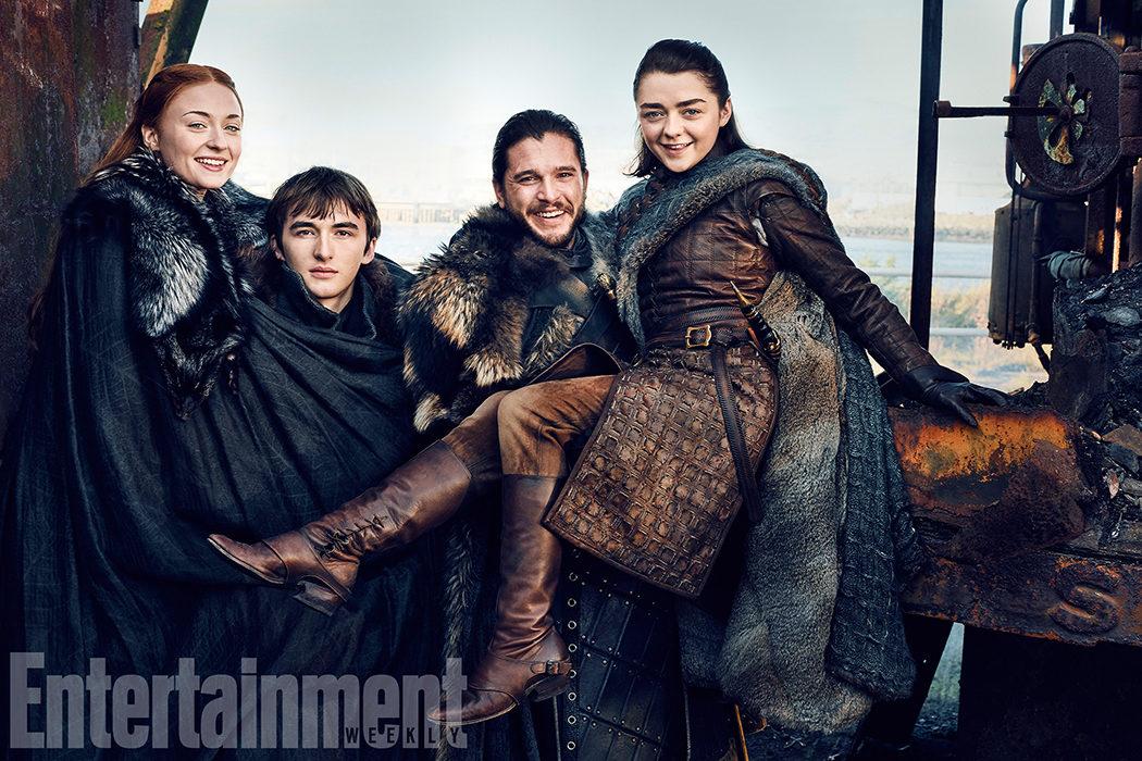 Sansa, Bran, Jon y Arya
