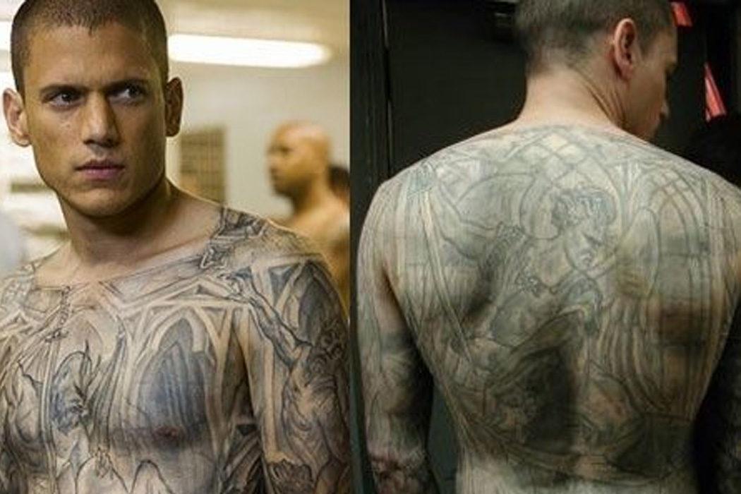 Tardaban 4 horas en pintarle sus tatuajes en 'Prison Break'