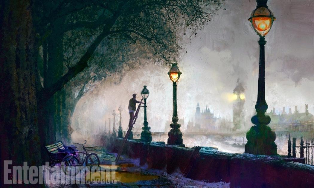 Concept Art de Jack cerca del Big Ben
