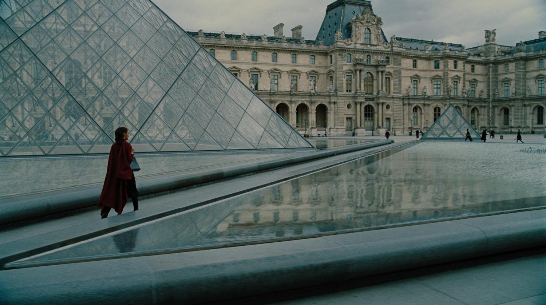 Diana trabajando en el Louvre.