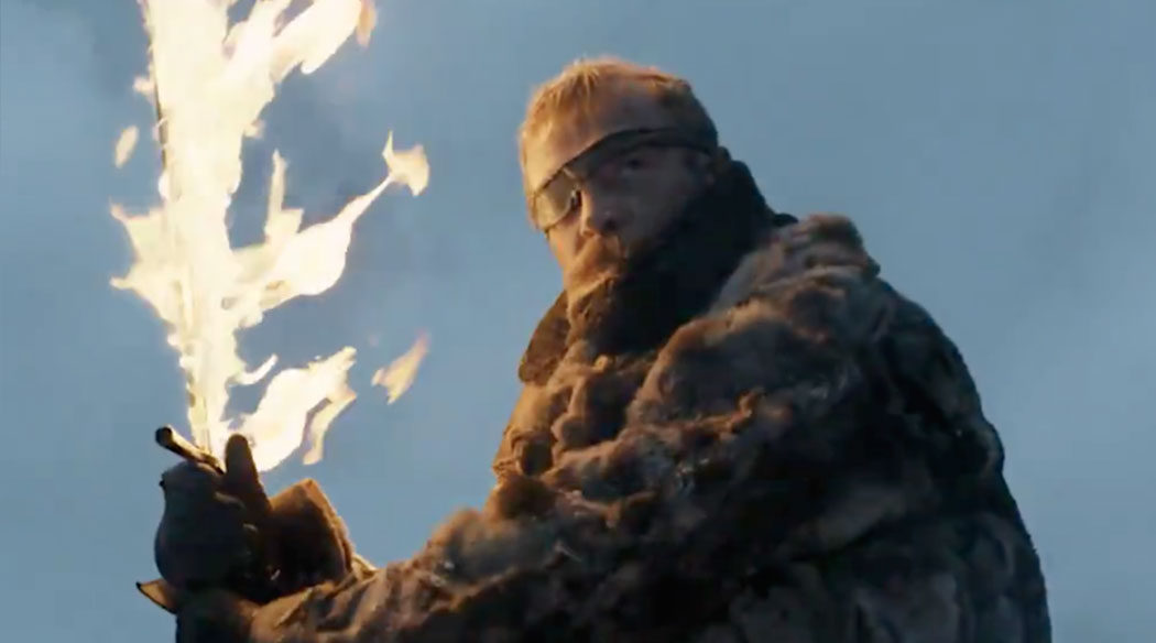 Beric Dondarrion con la espada de Azor Ahai