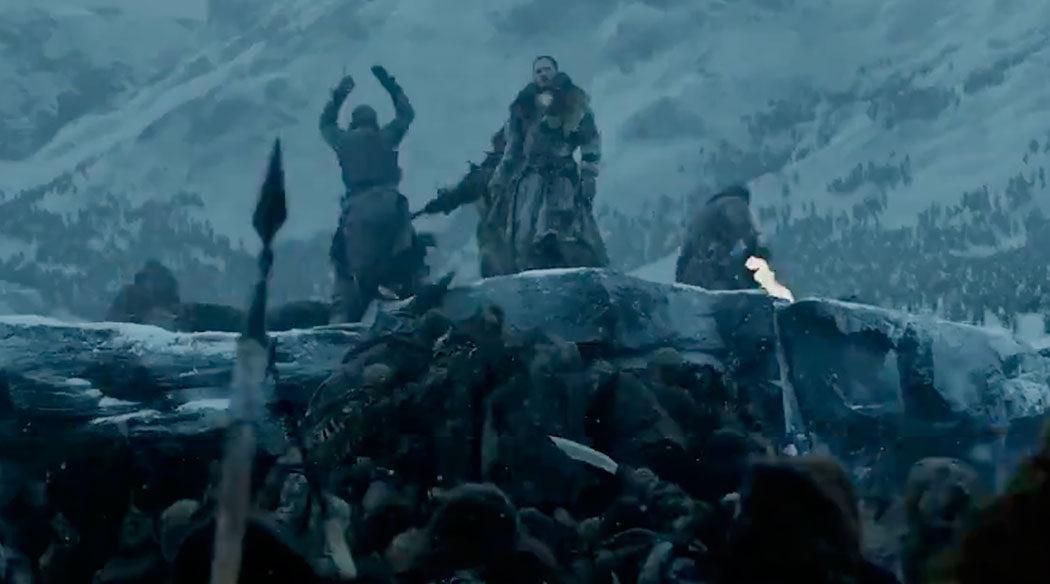 Jon Nieve en plena batalla con los caminantes blancos