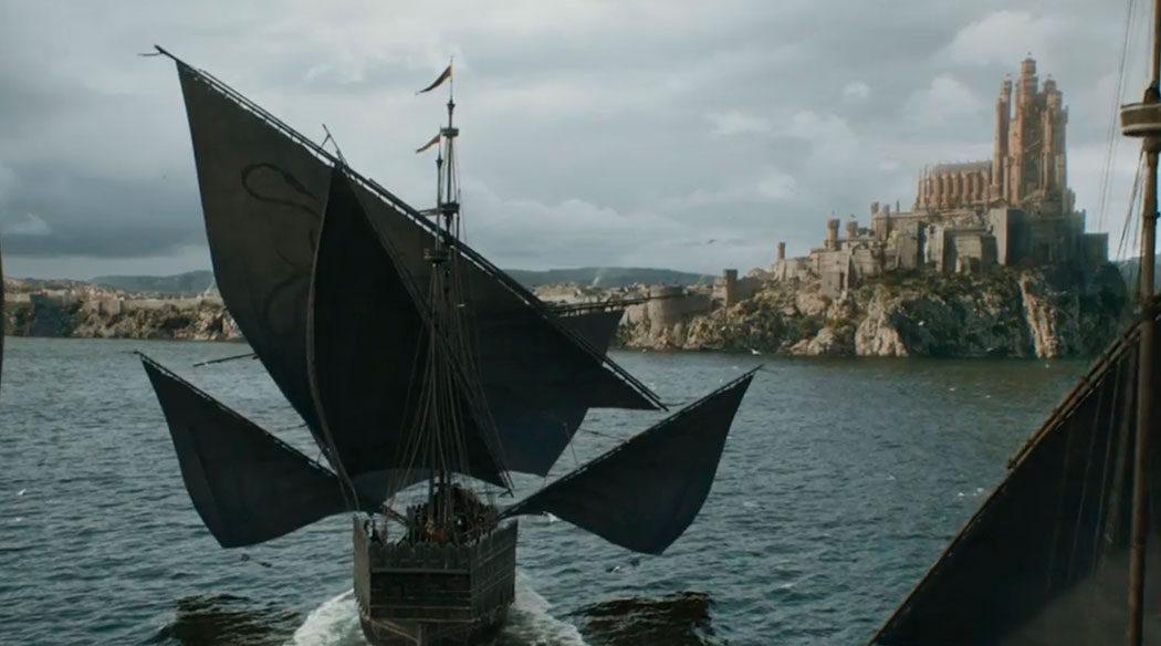 Los navíos de Greyjoy llegan a Desembarco del Rey