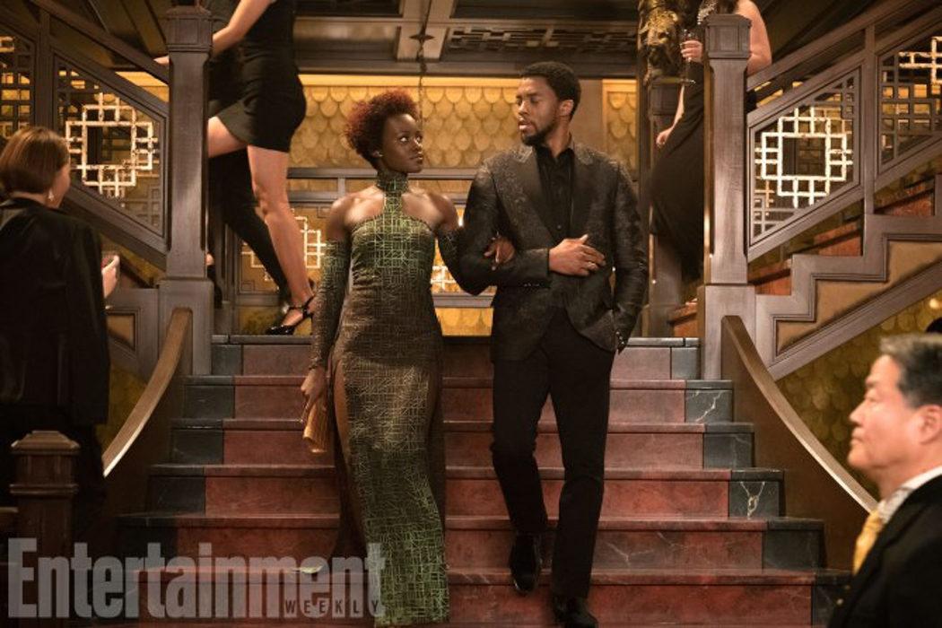 Lupita Nyong'o y Chadwick Boseman (Nakia, T'Challa)