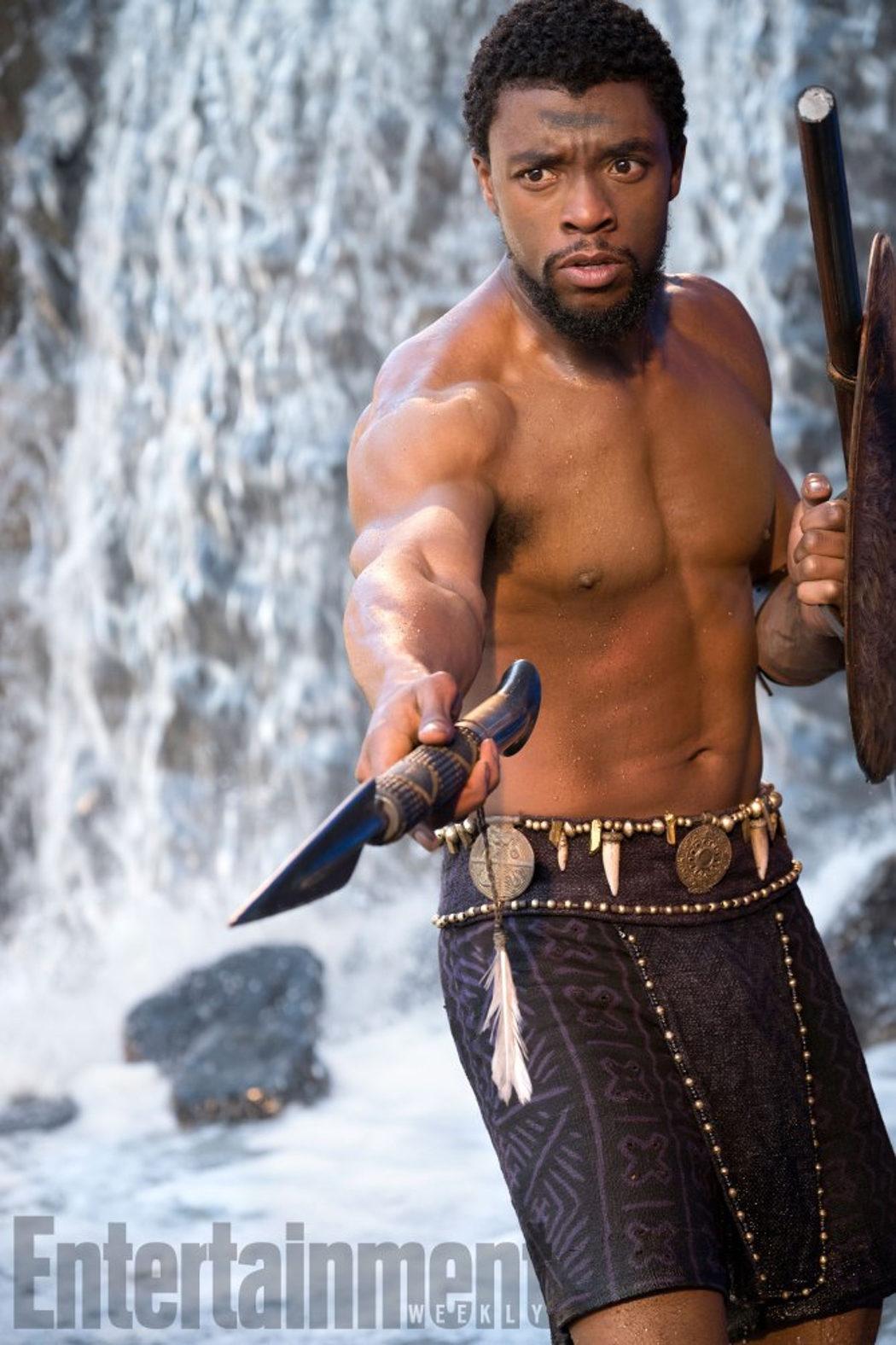 T'Challa, interpretado por Chadwick Boseman
