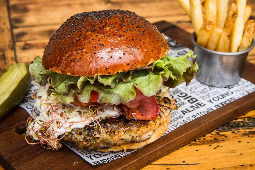 Empacho de hamburguesas