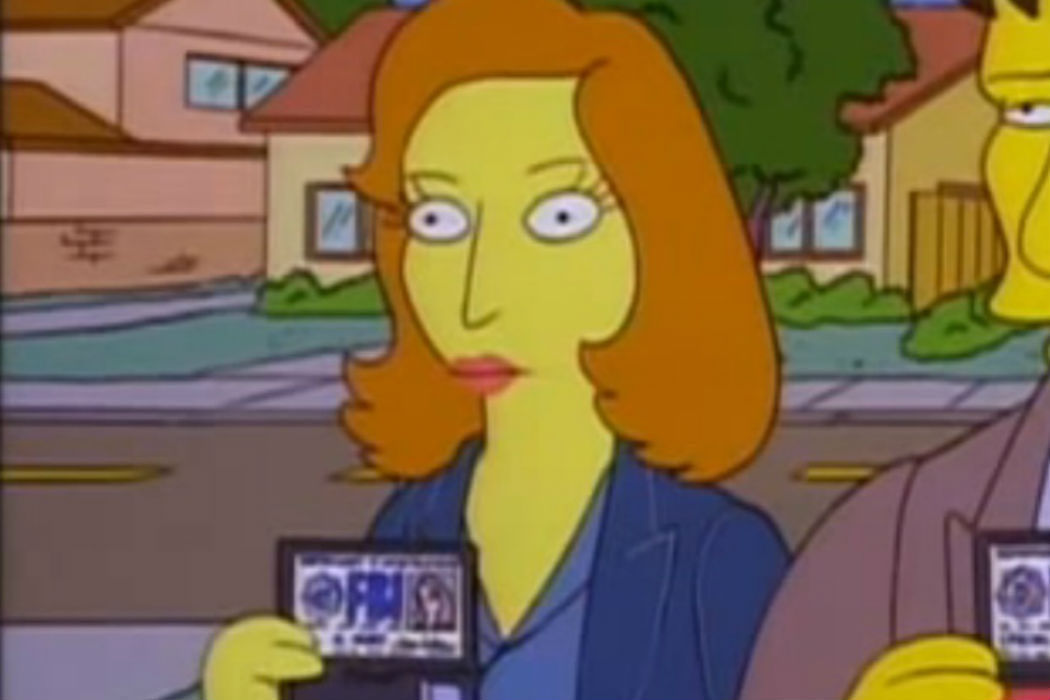 Dana Scully ('Los Simpson')