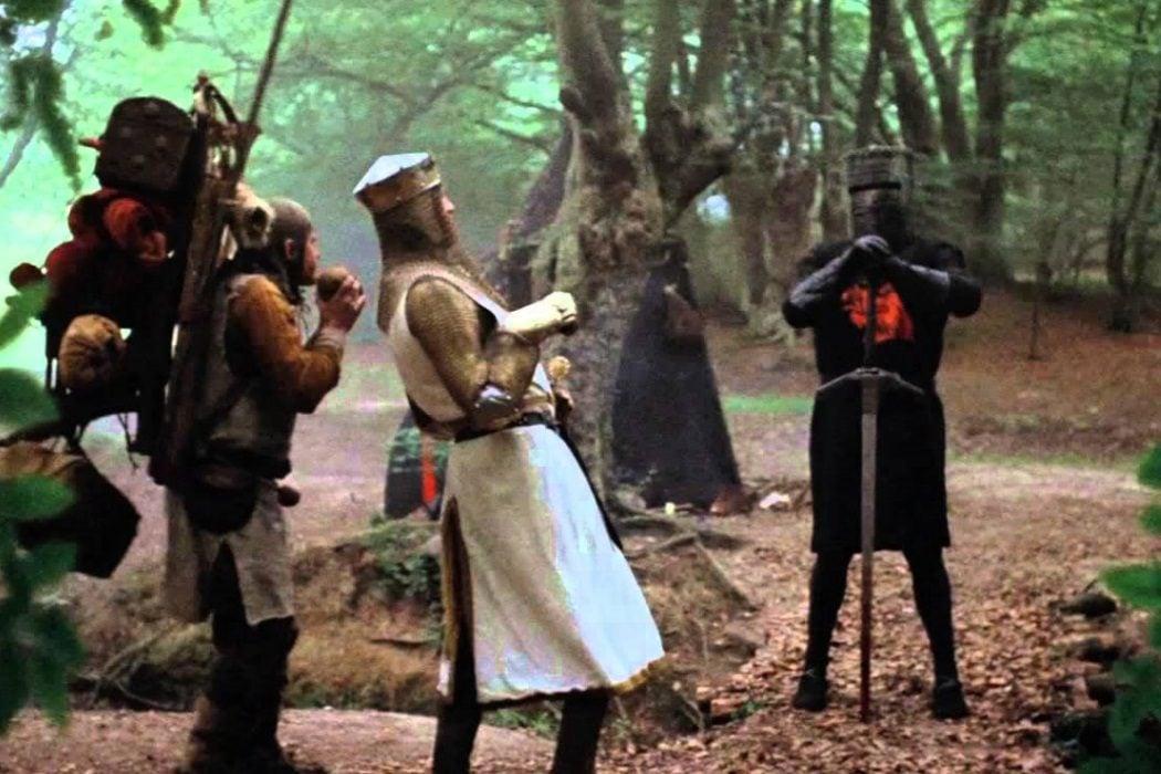 Los caballeros de la mesa cuadrada y sus locos seguidores (Terry Jones y Terry Gilliam, 1975)