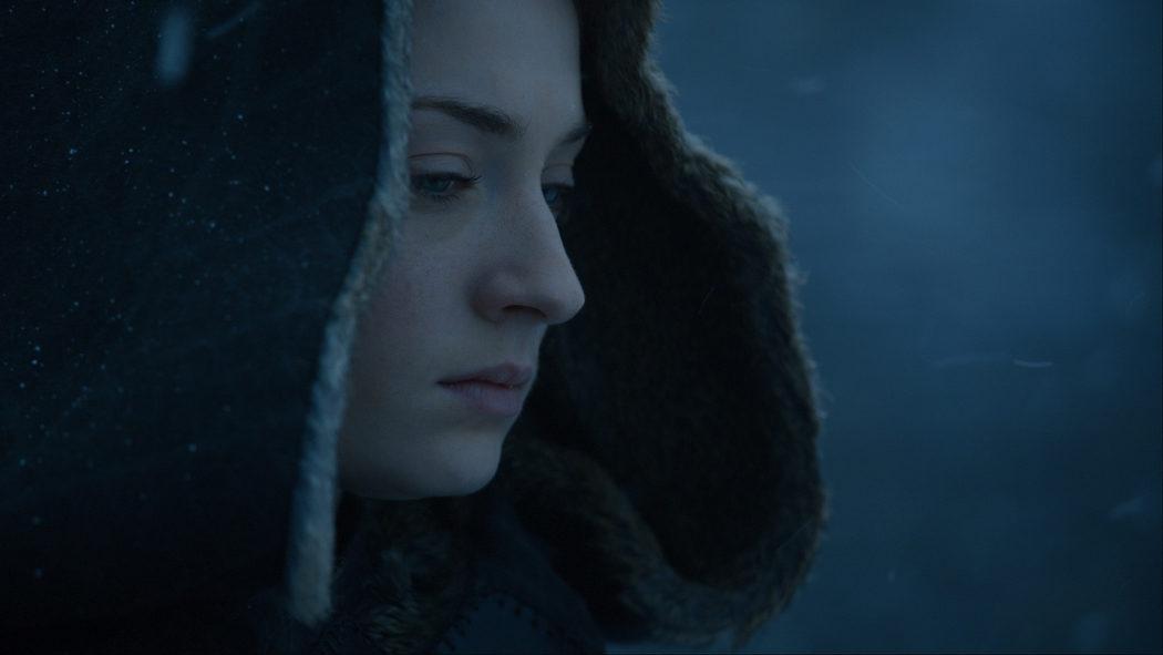 Sansa pensativa en Invernalia