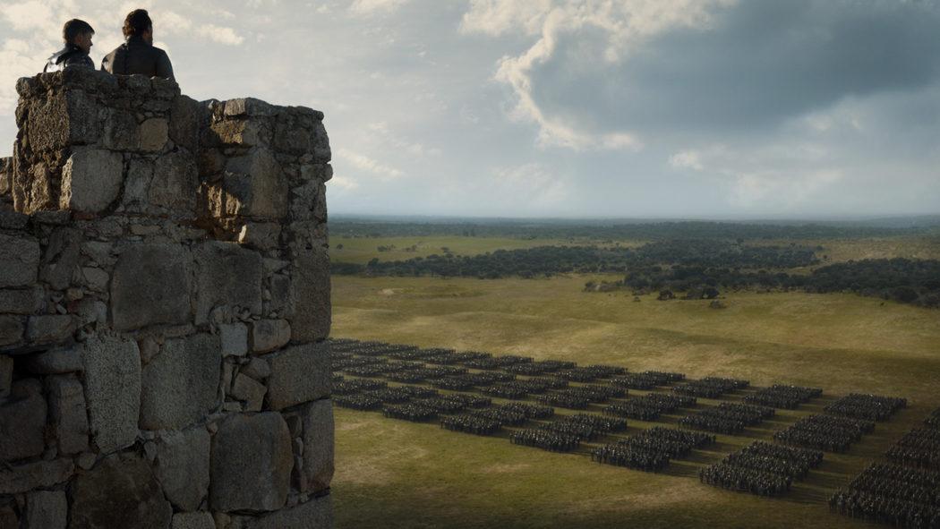 Jaime y Bronn ante sus tropas