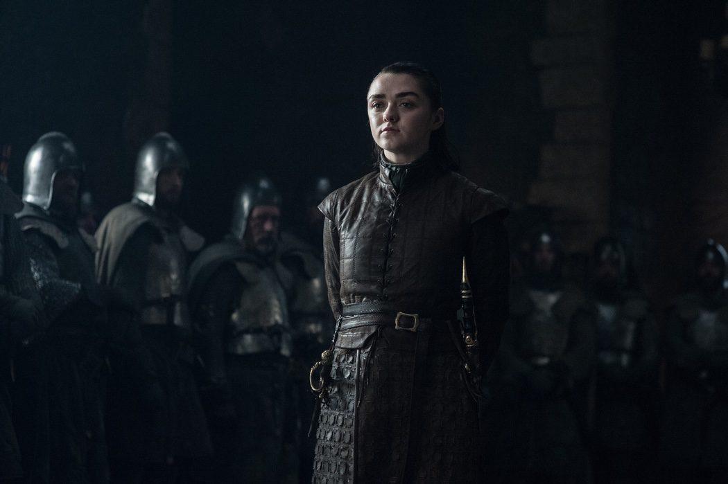 Arya, confiada y hasta relajada