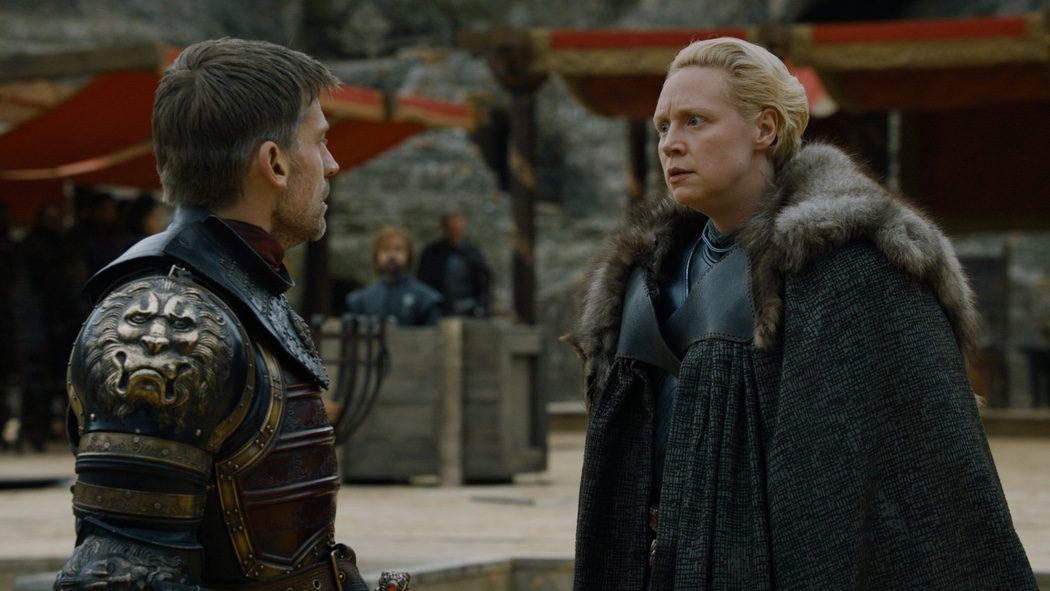 Brienne y Jaime hablando sobre la lealtad