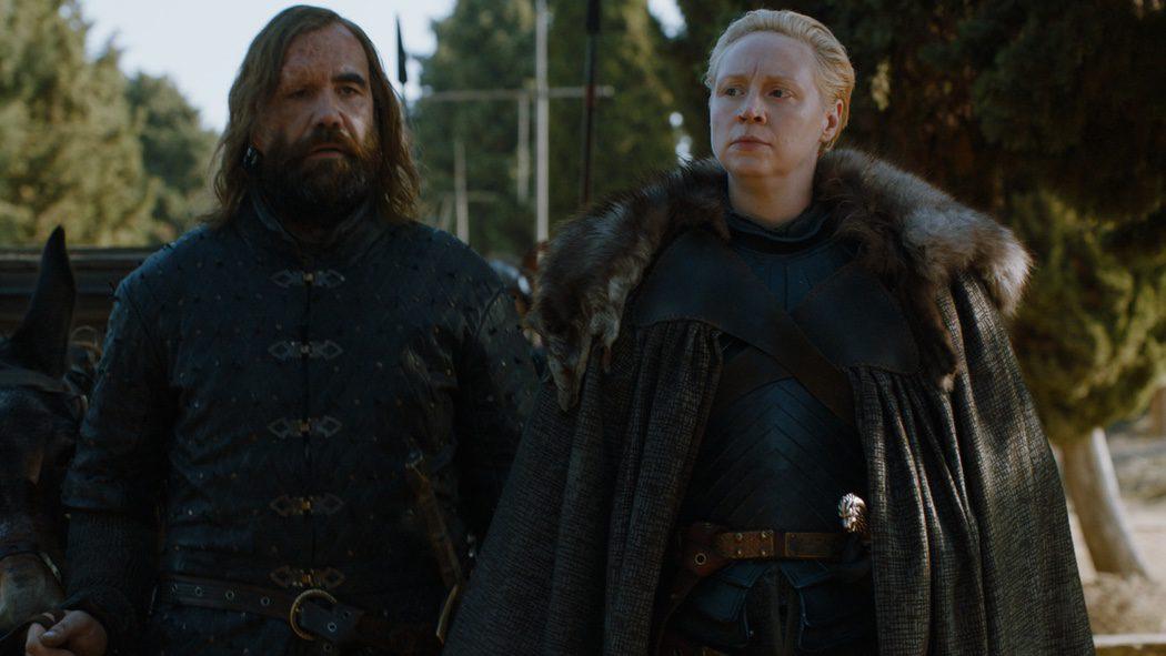 El Perro y Brienne de camino a Pozo Dragón