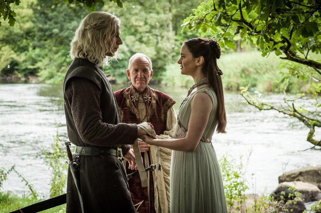 La boda entre Rhaegar Targaryen y Lyanna Stark en Dorne