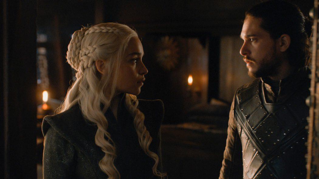 Daenerys y Jon Snow diciéndoselo todo sin palabras