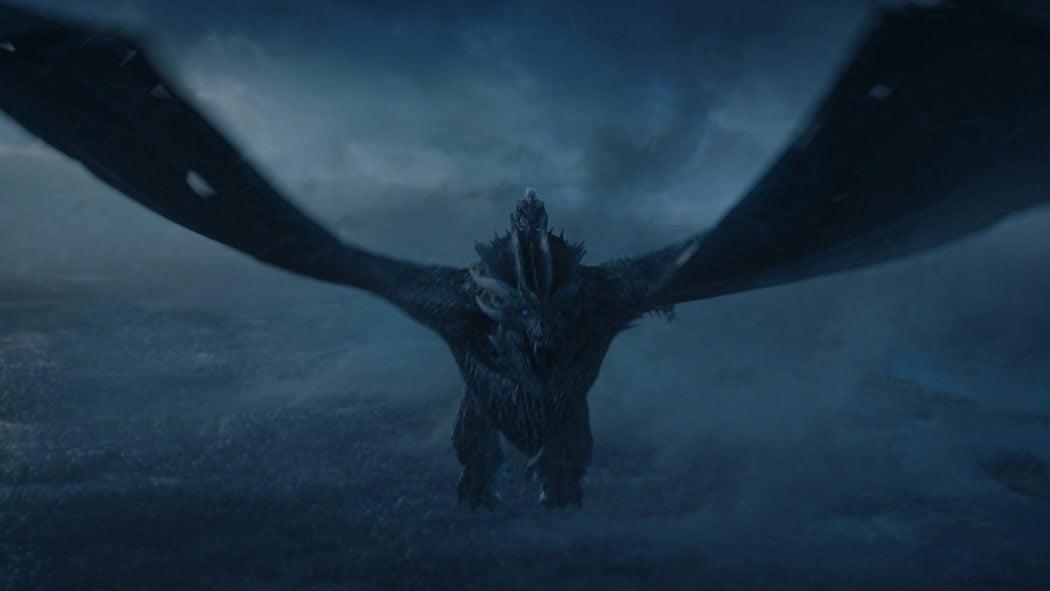 El Rey de la Noche a lomos de Viserion