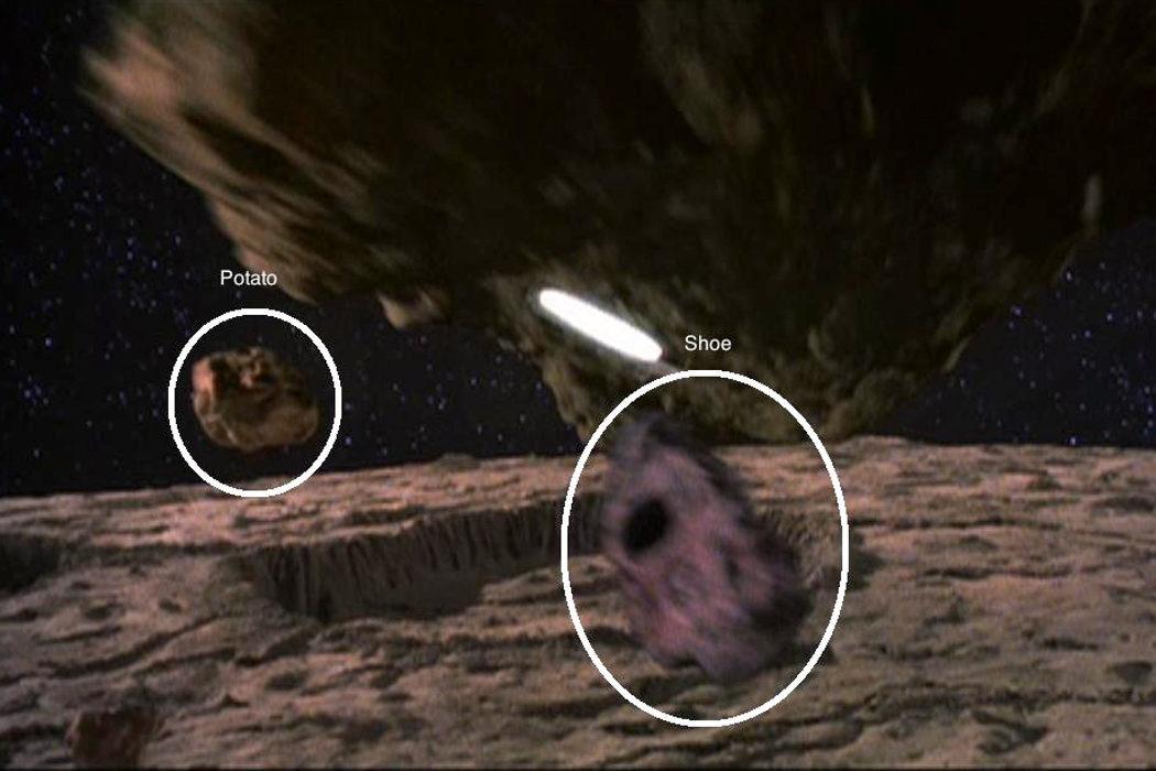 En una galaxia muy lejana una patata y un zapato se convirtieron en asteroides