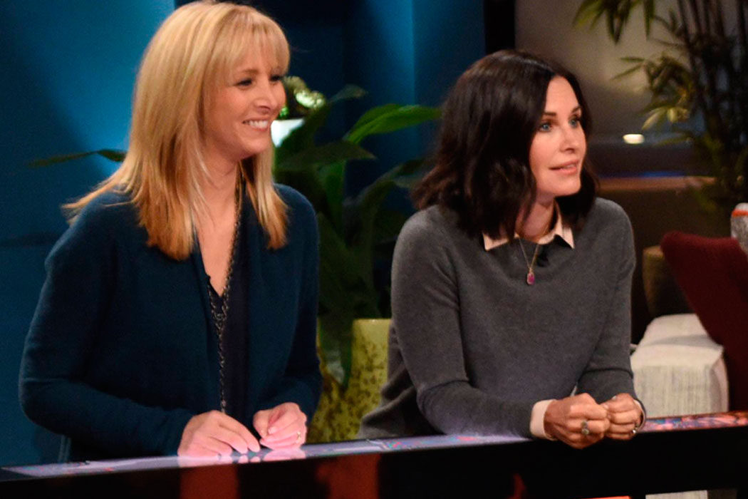 'Celebrity Name Game' - Courteney Cox y Lisa Kudrow