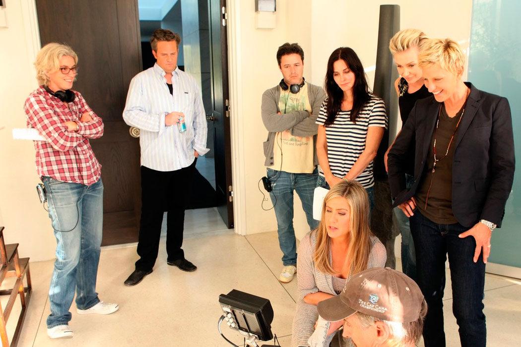 'Ellen DeGeneres' - Aniston, Perry y Cox
