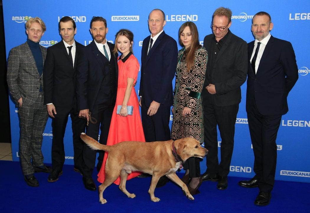 Cuando se llevó a su perro al estreno de 'Legend'