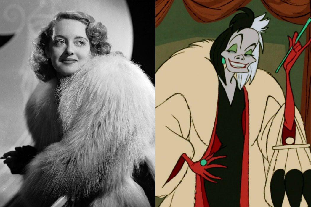 Bette Davis, inspiración para Cruella De Vil