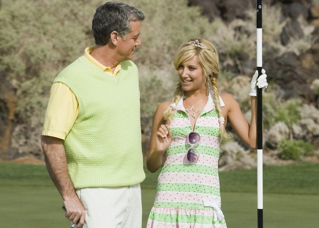Los problemones de Ashley Tisdale con el golf