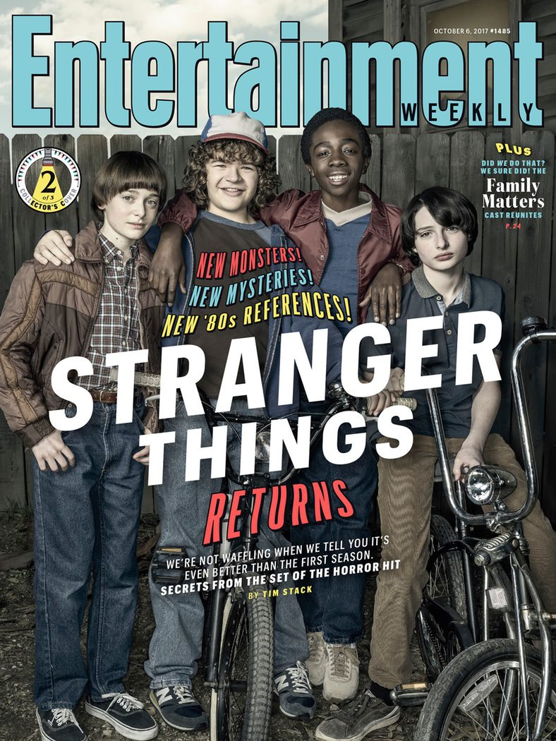 Portada EW con Mike, Dustin, Lucas y Will