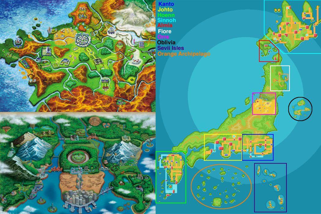 Las regiones en la realidad