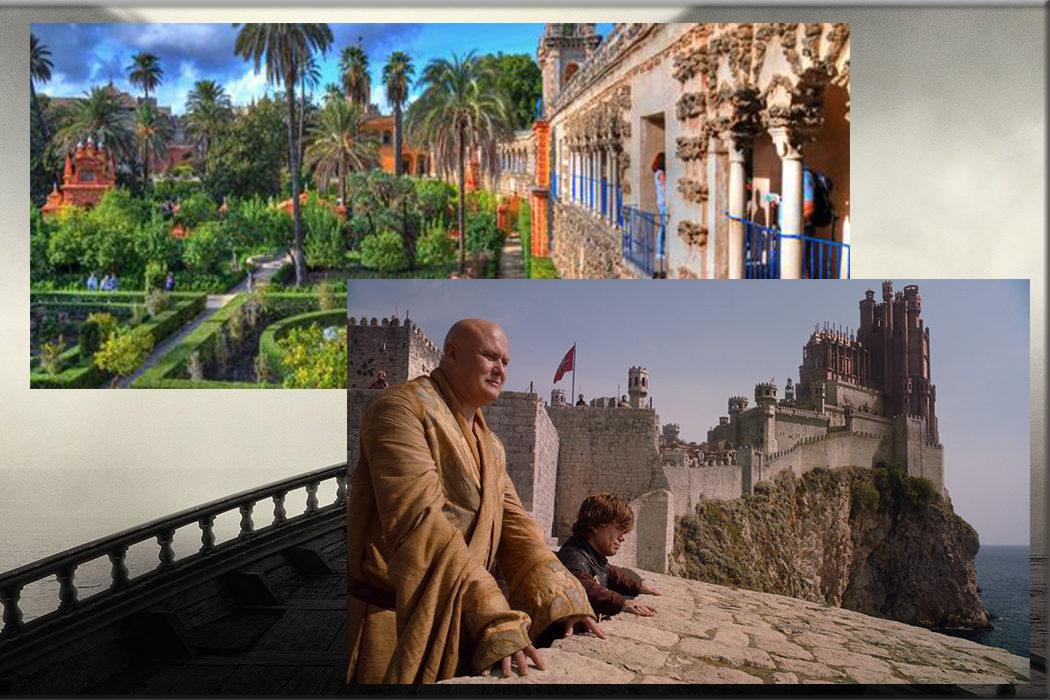 Alcazaba y el Real Alcázar (Dorne, Casa Martell) en Amería y Sevilla
