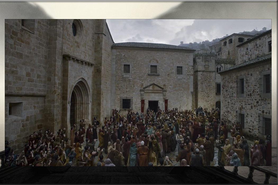La Plaza de Santa María (Paseo triunfal Euron Greyjoy en Desembarco del Rey) en Cáceres