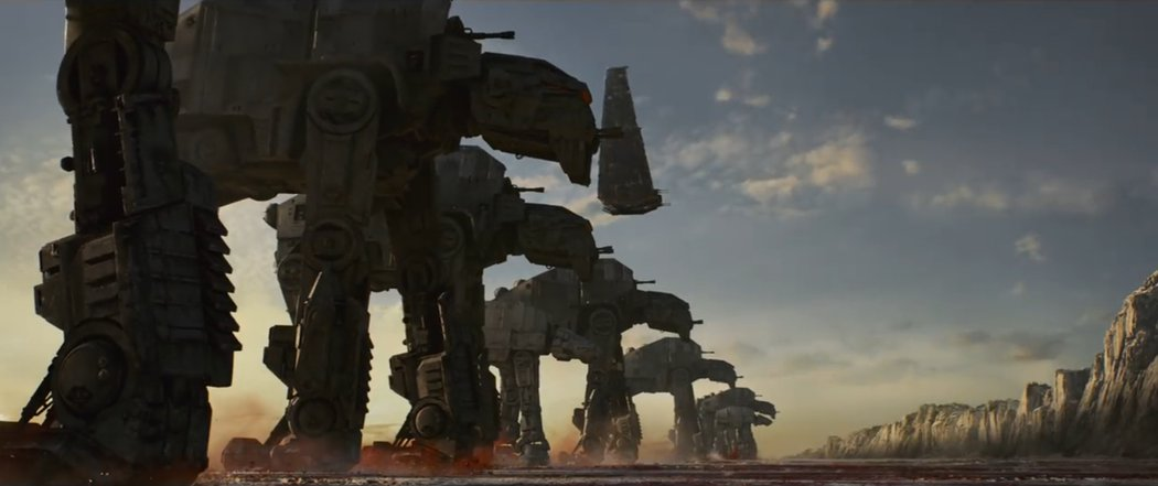 Los AT-ATs llegan a Crait