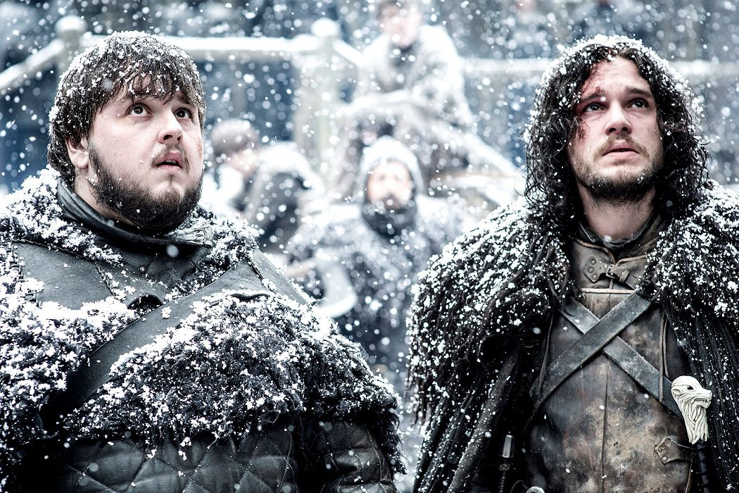 Samwell Tarly y Jon Snow