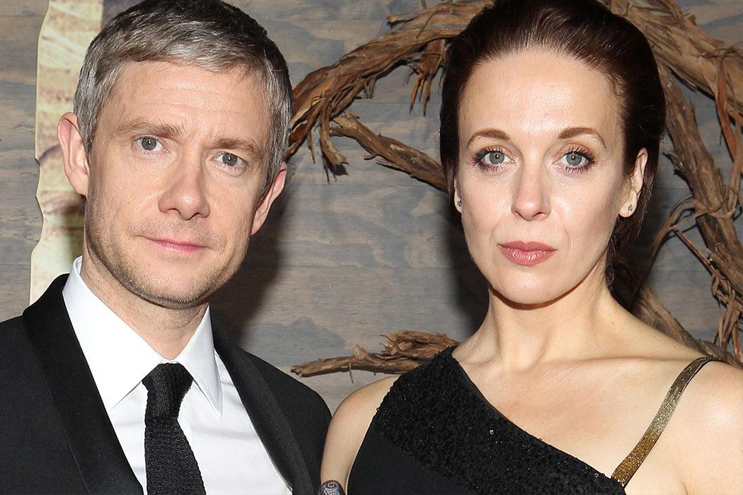 Martin Freeman y Amanda Abbington