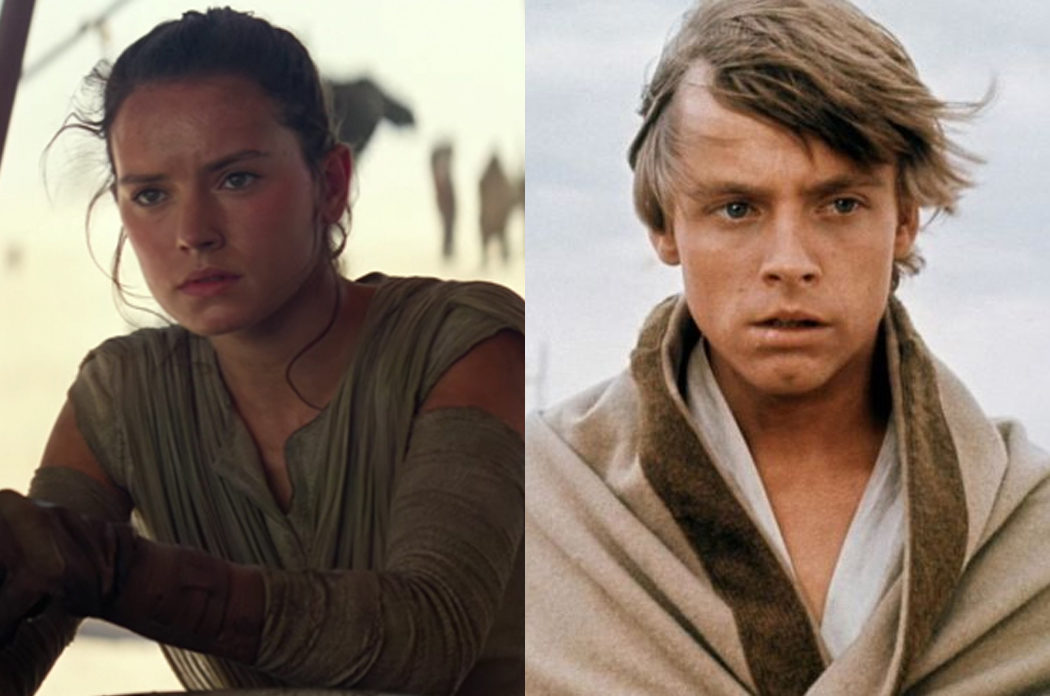 Rey y Luke Skywalker