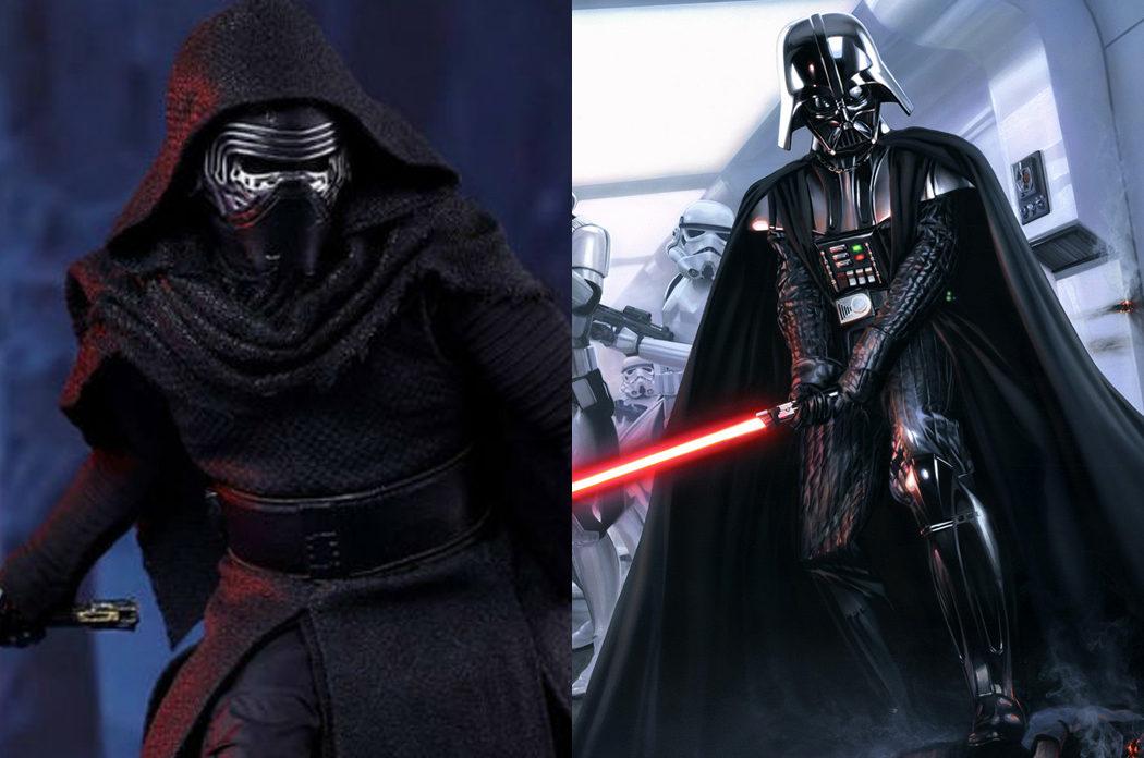 Kylo Ren y Darth Vader