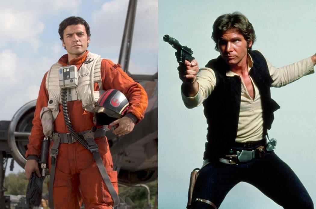 Poe Dameron y Han Solo
