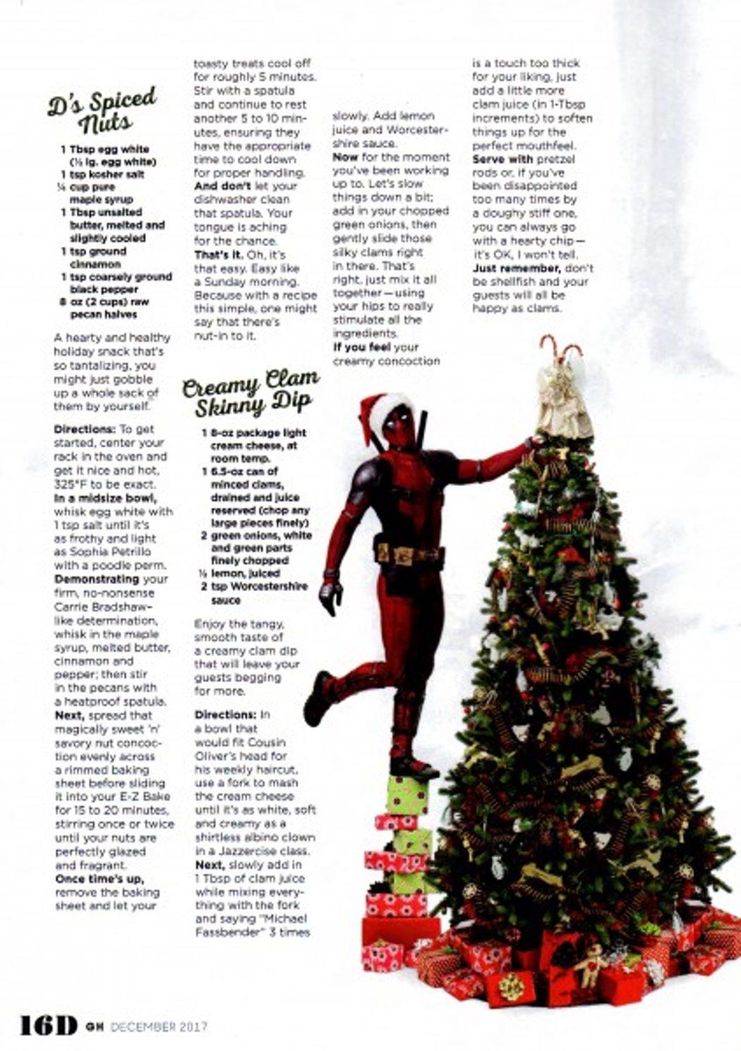 'Deadpool' nos enseña recetas navideñas