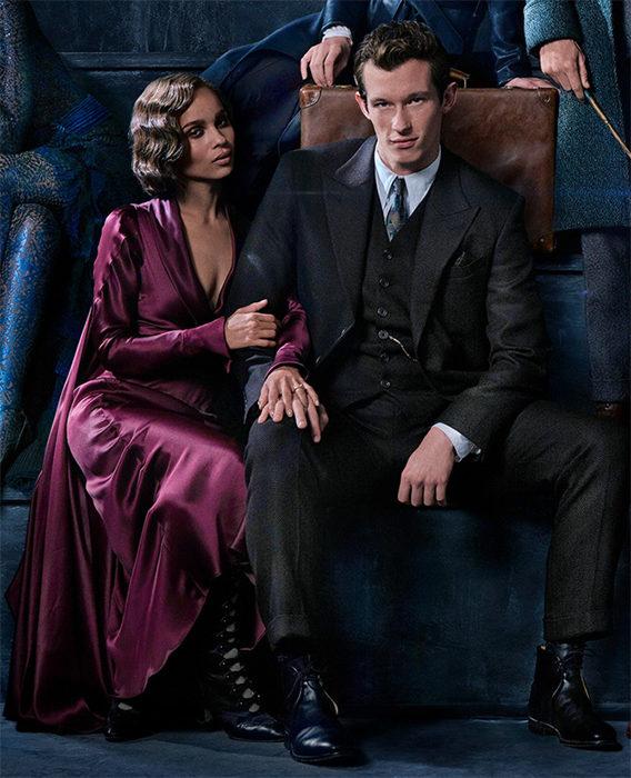 Zoë Kravitz como Leta Lestrange y Callum Turner como Theseus Scamander