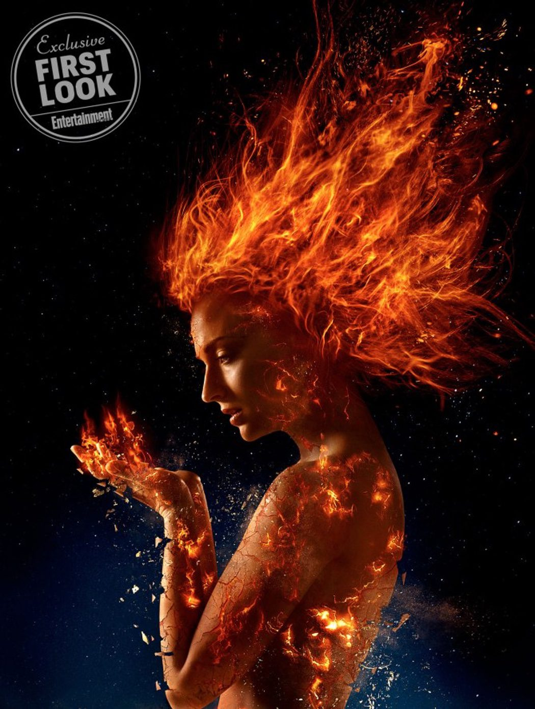 Sophie Turner convertida en la Fenix Oscura