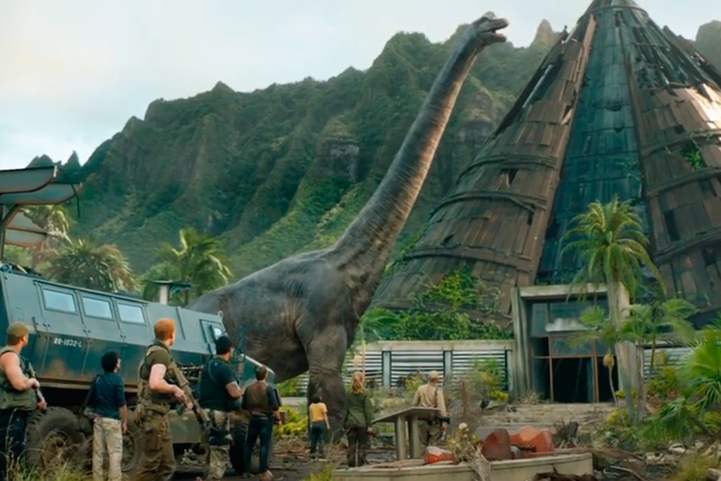 La isla está tomada por los dinosaurios