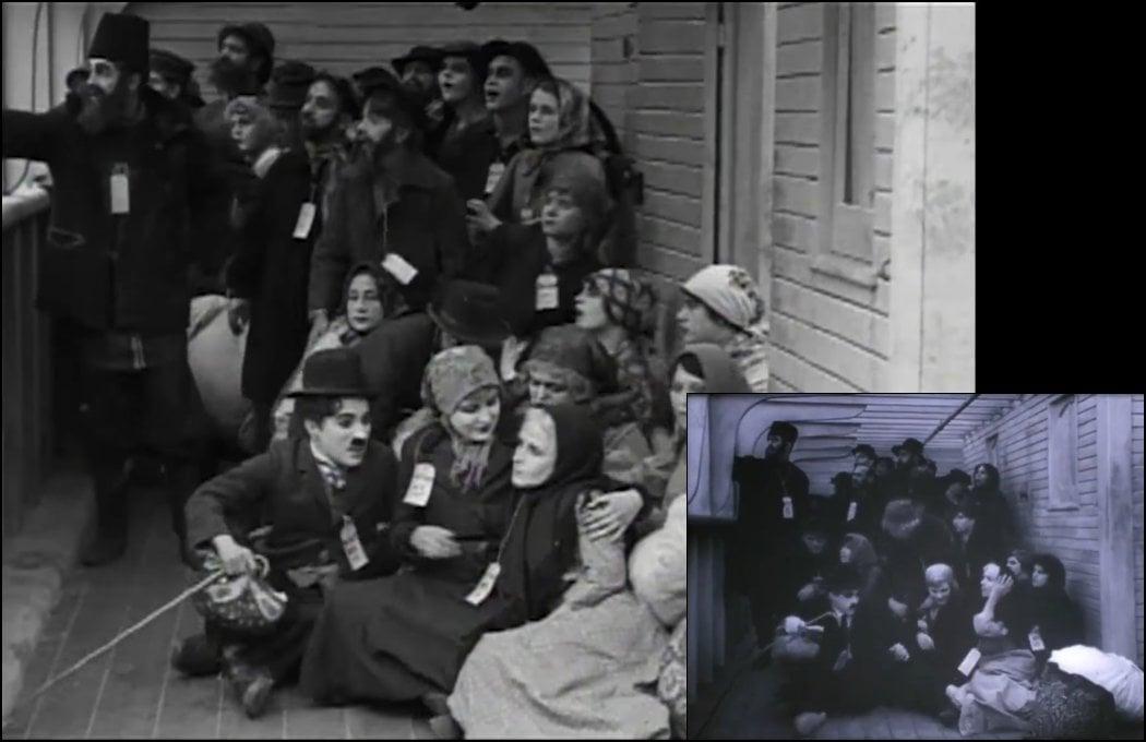 'Charlot emigrante' (1917)