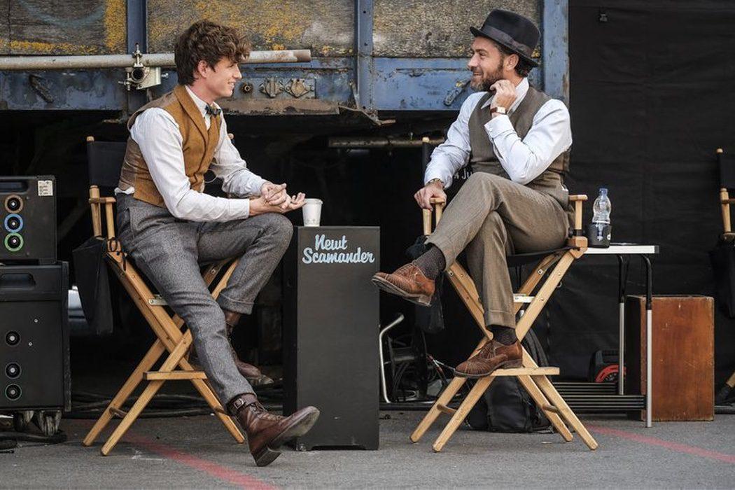 Eddie Redmayne y Jude Law detrás de las escenas