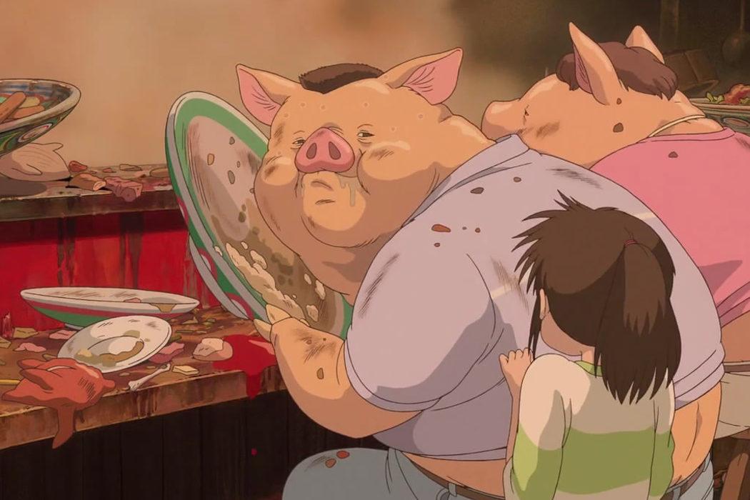 El banquete fantasmal en 'El viaje de Chihiro'