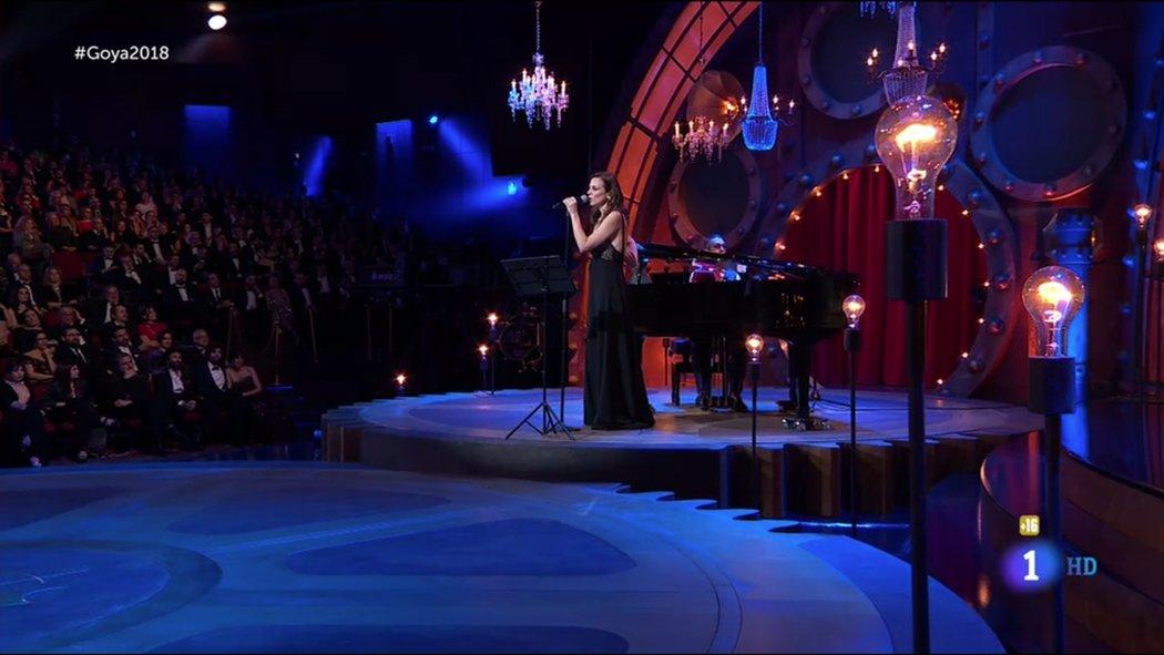 La presentación del Goya a Mejor canción original