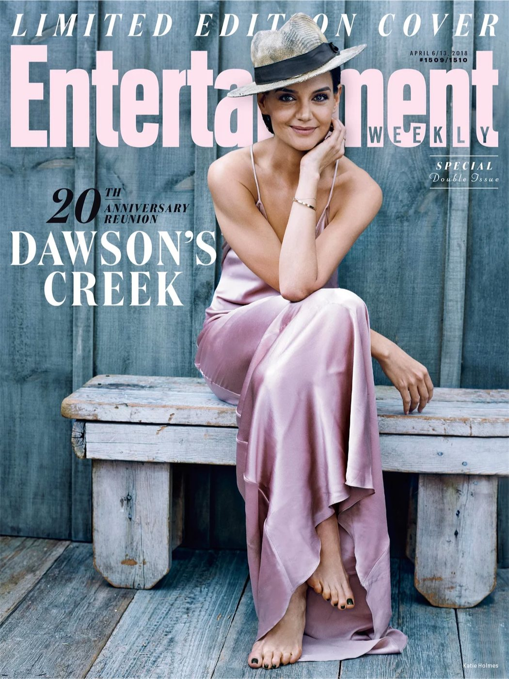 Katie Holmes para Entertainment Weekly