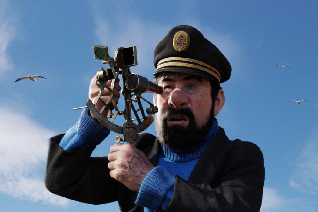 Capitán Haddock en 'Las Aventuras de Tintín: El Secreto del Unicornio'