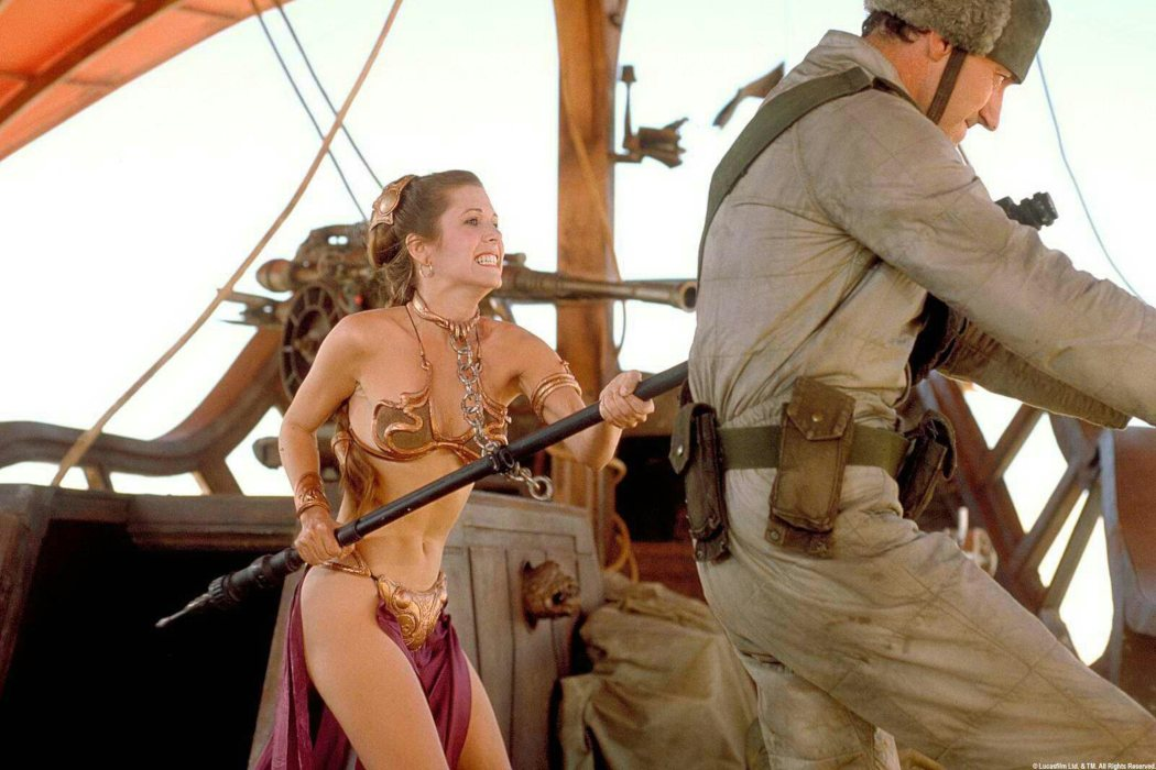 El bikini de la Princesa Leia; décadas después, aún trae cola