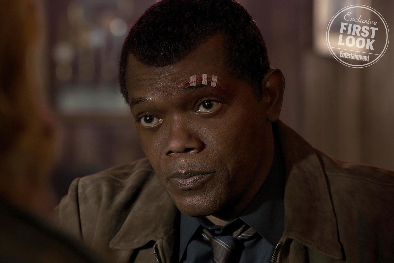Nick Fury (Samuel L. Jackson) rejuvenecido